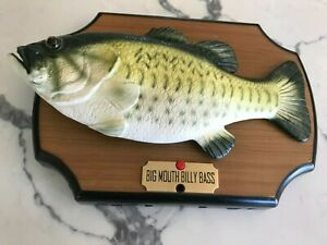 Vintage 1999 Big Mouth Billy Bass Singing Talking Wall Fish by Gemmy Industries