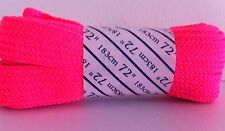 Roller Derby Skates Fat Neon Quad Roller Skate Laces (71 inches) 183cm  - Pink