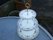 Minton PERSIAN ROSE three tier cake stand - unused