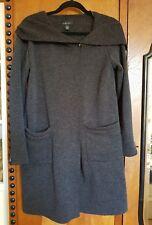 Kuschliger Sweatshirt Mantel mit Kapuze anthrazit grau von Amisu Gr. 36 / 38 Neu