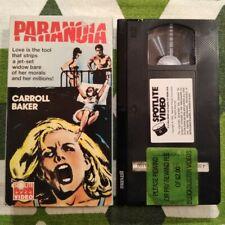 Paranoia aka Orgasmo VHS RARE 1969 Giallo Thriller Horror Italian