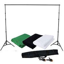 2x3M Fotografía Estudio Set Soporte Trípode telón de fondo Blanco Verde Negro