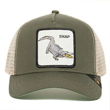 "Goorin Bros. Animal Farm Trucker Snapback Hat Cap Olive/Tan/""Snap"" at ya"