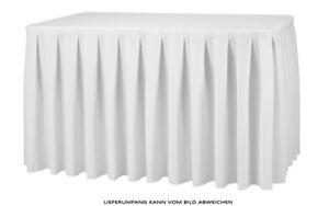 Tisch Skirting Weiß Kellerfalte 410x73cm TischverkleidungTisch Rock Verkleidung