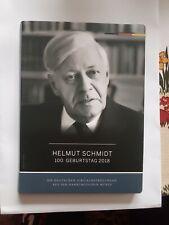 Münzfolder, Album - 100. Geburtstag Helmut Schmidt - 2 Euro 2018
