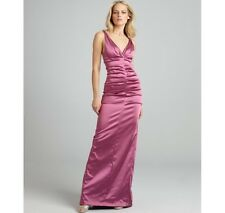 Nicole Miller Raspberry Formal Evening Gown Dress Satin Ruched Size 6 NWT $500