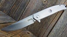 Couteau CRKT Vizzle Lame Acier 8Cr13MoV Manche Acier Frame CR5320