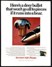 1972 Remington Peters Core-Lokt Bullets Ammunition Print Ad