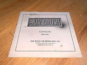 1922 WOLD AIR BRUSH Catalog 1892-1922