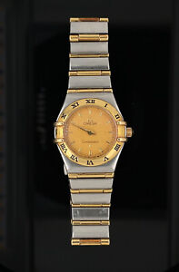 Ladies OMEGA Constellation 18k Gold & SS Watch 23mm