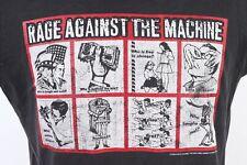 Vintage 90s Rage Against The Machine Rock Tour T-Shirt Tank Top Mens Xl
