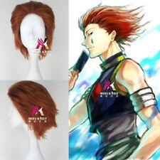 HUNTER×HUNTER Hisoka Short Orange Brown Cosplay Party Wig Hair:Free freight