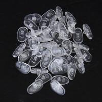 25 Paar Silikon Schraube Nasenpads Nasenpolster Brillenpad Oval 15mm