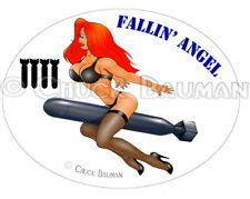Sexy Jessica Rabbit bomber girl Fallin' Angel WW2 babe pin-up decal sticker