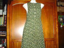 Green Floral Print Sundress, Size S - Made By Kar-a-van - Sleeveless