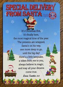 Christmas Eve Box Fillers Girls Boys Nice List Santa Badge Stocking Presents