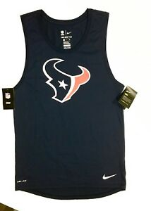 NEW Nike DRY Dri-Fit Men's NFL Texans Football Athletic Jersey Tank Top Shirt M