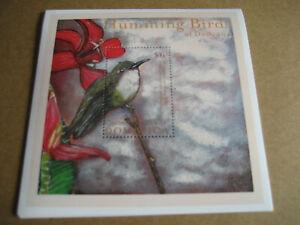 DOMINICA  HUMMING BIRDS OF DOMINICA  SOUVENIR SHEET