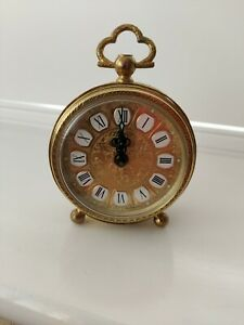 Vintage Gold Blessing Mechanical Alarm Clock   Filigree   West Germany Retro