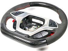 Genuine OEM GM C7 Corvette ZR1 Carbon Fiber Steering Wheel Suede Red Stitching