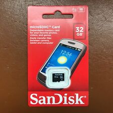 New Sandisk Micro SD 32GB SDHC Memory Card Mobile Phone Tablet Camera  Class 4