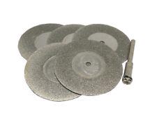 6pc 40mm Dremel Rotary Abrasive Emery Diamond Grinding Cutting Wheel Discs