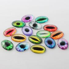 20 Dragon Eye Glass Cabochons 25x18 Oval Glass Domes Flatbacks Assorted Lot BULK