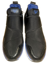 NWT AUTHENTIC ARMANI JEANS BLACK TRAINERS SNEAKERS SHOES. UK 9½ - EUR 44