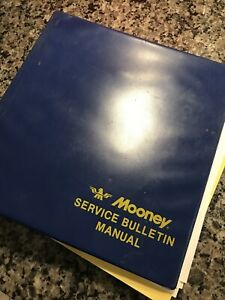 Mooney Service Bulletin Manual Vintage Aircraft Aviation Binder