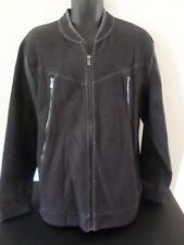 Calvin Klein - Slim Fit Chambray Bomber Jacket w/Faux leather Sleeves- MEN Large