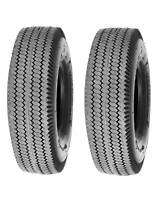 Two New 4.10/3.50-4 410/350-4 Sawtooth 4 Ply Dolly Cart Go Kart Tubeless Tires