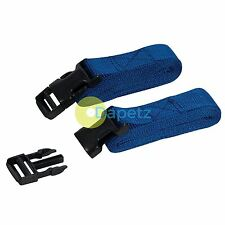 2Pk Clip Buckle Straps 2M X 25mm With Plastic Clip Buckles Tough Brand New