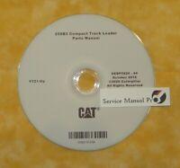 SEBP5924 Caterpillar 259B3 Compact Track Skid Loader Parts Manual Book CD. YYZ
