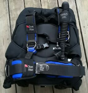 Dive Rite Trans Pac Harness with Rec Wing BCD BC M L Scuba Blue Mint Condition
