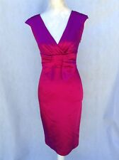 Pink Satin Cocktail Dress BELLE BY OASIS Size UK-8      C32