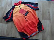 MEN'S POLARIS FIRE AND ICE SHORT SLEEVE SHIRT ,3/4 ZIP CYCLING JERSEY Size S