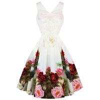 Hearts & Roses London English Rose White Floral Vintage 50s Retro Wedding Dress