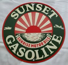Vintage 1950s 60s Gas Service Station Metal Sign Small Price Flip Numbers 0 T0 9