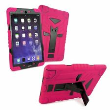 TUFF LUV Tri-Layer Rugged Case Cover & Stands for Apple iPad Pro 9.7 - Pink