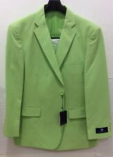 Vittorio St.Angelo Classic Fit,2 Button,Side Vent,Pleated Pants,Apple Green Suit