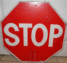 New listing Pre-Owned Man Cave Street No pole sign stop & slow Shows wear adds character Bin