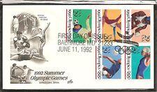 US SC # 2637-2641 Summer Olympics FDC. Artcraft Cachet