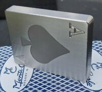 Ace of Spades Stainless Steel Poker Card Protector Card Guard Paper Weight