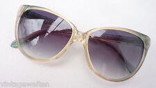 YSL große XL Damen Sonnenbrille 70er Vintage NEU grün rosa Gläser grau size M