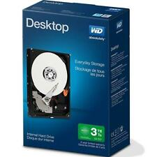 "New WD Desktop Everyday 3 TB 3TB Internal Hard Drive SATA 4"" WDBH2D0030HNC-NRSN"