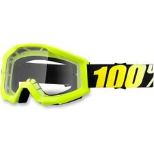 100% MX Goggle Lunette Strata Jaune Verre Lunettes Motocross Enduro MX Cross Vtt