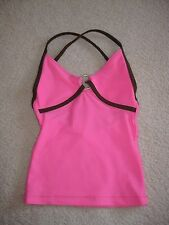Katrina Ktrna Activewear Pink Brown Strappy Dance Top YS Youth Child Small 6-8
