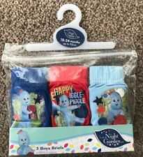 BOYS IN THE NIGHT GARDEN UNDERPANTS BRIEFS AGE 18-24 MONTHS 3 PACK GIFT PRESENT