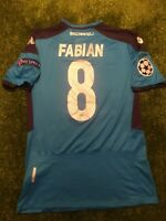 MAGLIA NAPOLI FABIAN RUIZ MATCH WORN INDO/PREPARATA CHAMPIONS LEAGUE