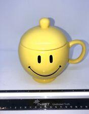 Yellow Smiley Face Candy Dish/ Coffee Mug